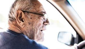 older man driving