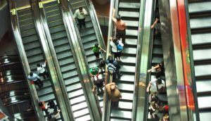 mall escalators