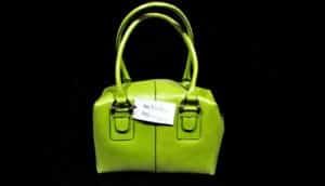 green bag on black