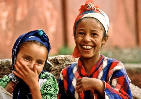 two girls in Morocco