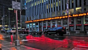 nyc news ticker about floods