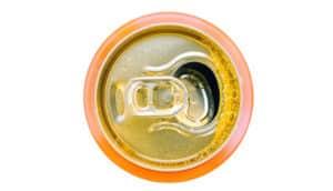 can of orange soda