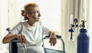 woman on oxygen