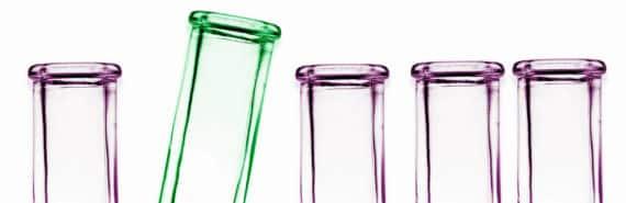 test tubes on white