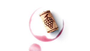 red wine spill and cork