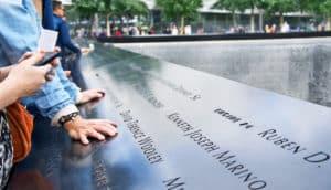 9/11 memorial visitors