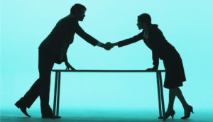 handshake blue & black