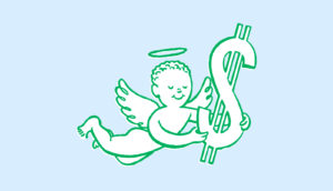 angel money illustration