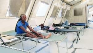 cholera treatment unit in Haiti