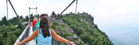 bridge to mountain top