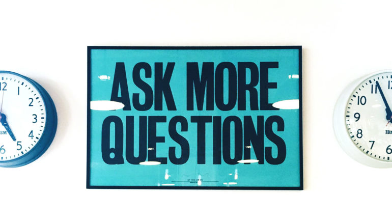ask more questions clocks
