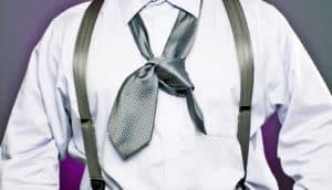 rumpled man's tie