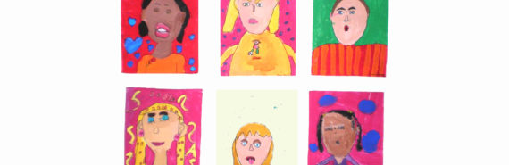 six child self-portraits