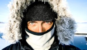 cold person in siberia