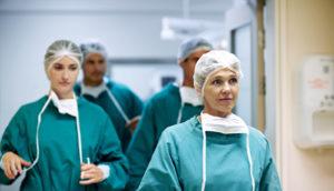 surgeons walking