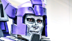 Transformers cosplay guy