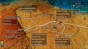 axial volcano depth map