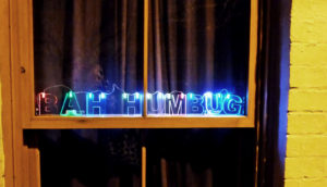 bah humbug xmas lights