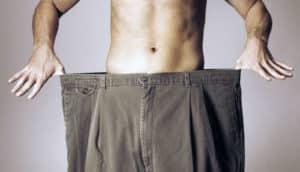 Man wearing oversized pants