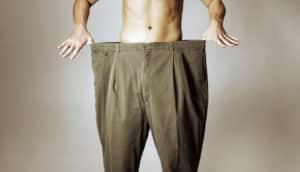 man wears big pants