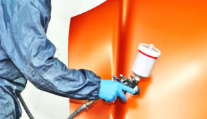 painting car hood orange