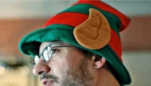 ear on elf hat