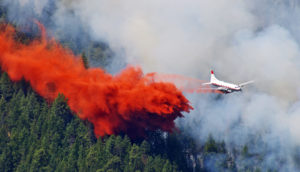plane fighting wildfire