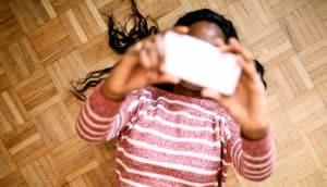 parquet floor selfie