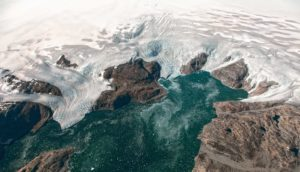 glacier and mountains in Greenland