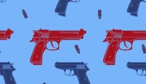 gun illustration repeating pattern