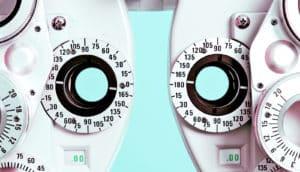 phoropter eye exam machine