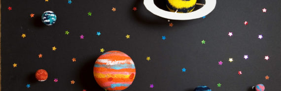 paper model of the solar system