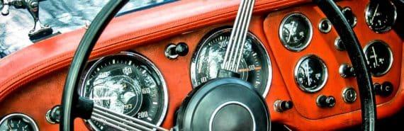 steering wheel - orange and black
