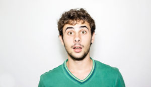 surprised young guy