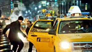men get in taxi