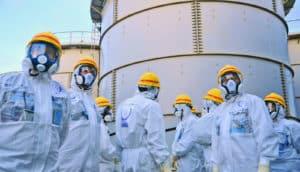 inspection of Fukushima water tanks
