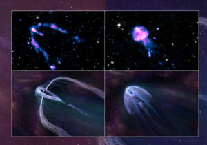 composite images of pulsars
