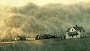 dust bowl dust storm texas