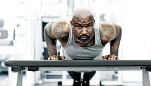 man using gym membership