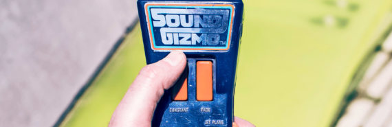 sound gizmo toy in hand