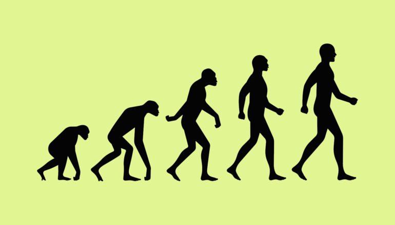 ascent of man diagram on green
