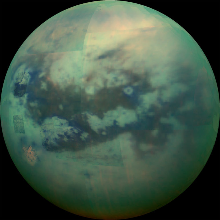 infrared view of Saturn's moon Titan