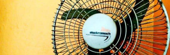 fan on orange