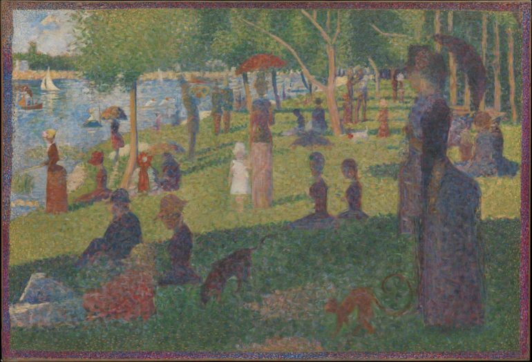"Seurat study for ""A SUnday on La Grande Jatte"""