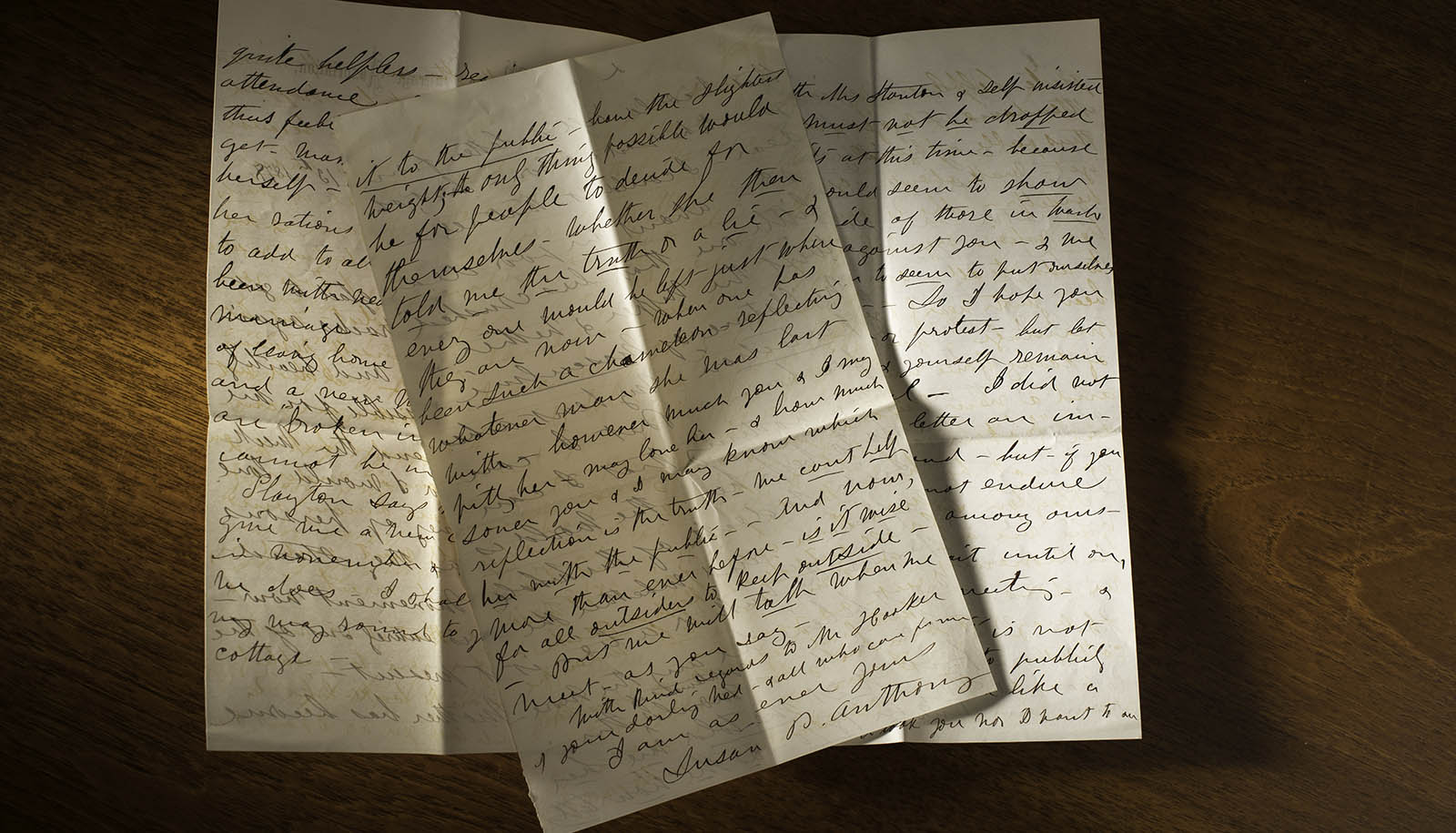 Letter from Susan B. Anthony to Isabella Beecher Hooker