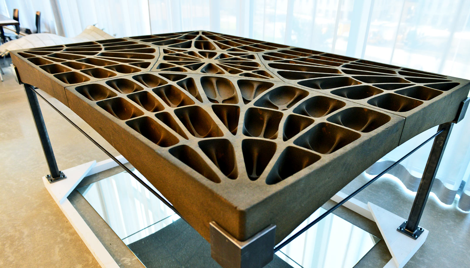 Gothic cathedrals inspire very thin concrete floors