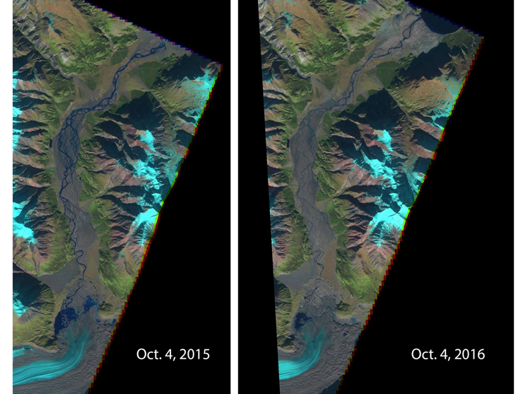 comparison images of river piracy