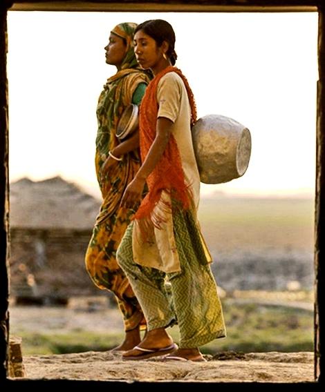 water gatherers in Bangladesh
