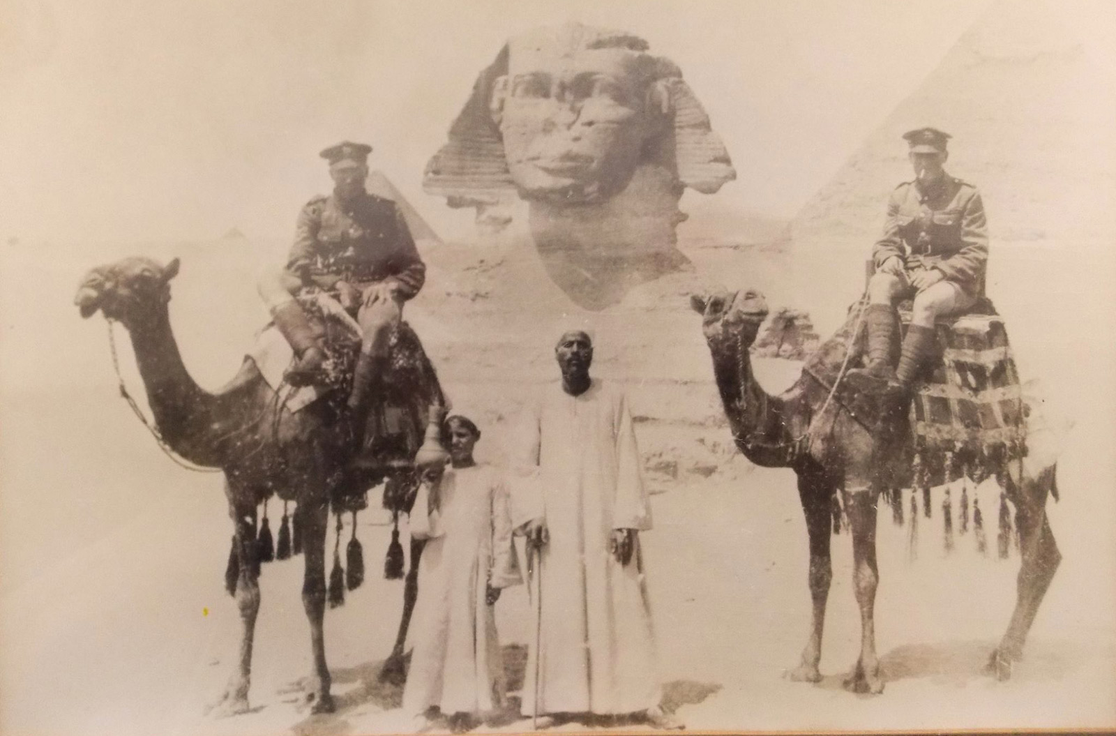 soldiers on camels