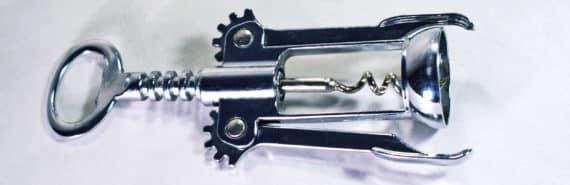 corkscrew on white